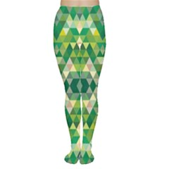 Forest Abstract Geometry Background Women s Tights