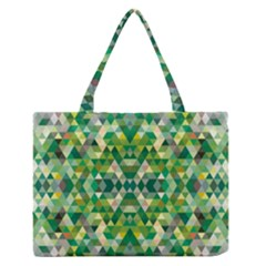 Forest Abstract Geometry Background Zipper Medium Tote Bag
