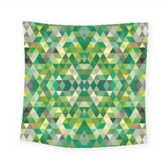Forest Abstract Geometry Background Square Tapestry (small)