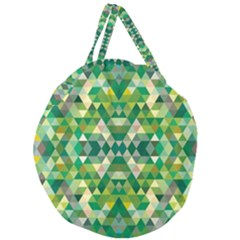 Forest Abstract Geometry Background Giant Round Zipper Tote