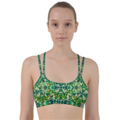 Forest Abstract Geometry Background Line Them Up Sports Bra