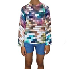 Background Wall Art Abstract Kids  Long Sleeve Swimwear