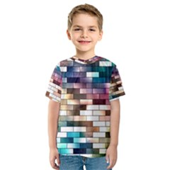 Background Wall Art Abstract Kids  Sport Mesh Tee