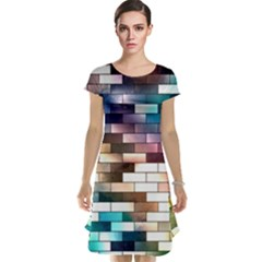 Background Wall Art Abstract Cap Sleeve Nightdress