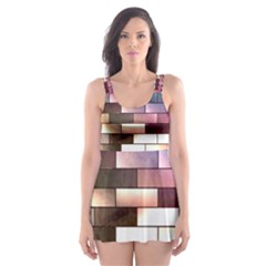 Background Wall Art Abstract Skater Dress Swimsuit