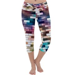 Background Wall Art Abstract Capri Yoga Leggings