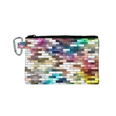 Background Wall Art Abstract Canvas Cosmetic Bag (small)