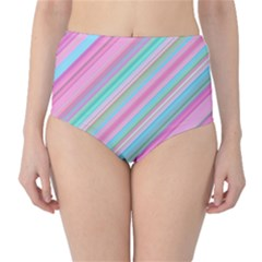Background Texture Pattern High Waist Bikini Bottoms