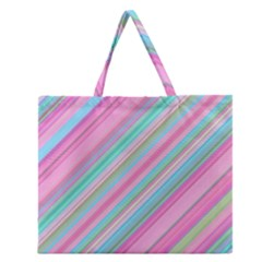 Background Texture Pattern Zipper Large Tote Bag