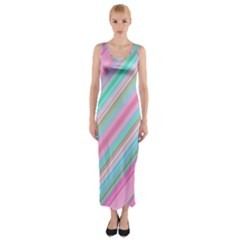 Background Texture Pattern Fitted Maxi Dress