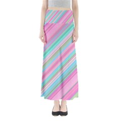 Background Texture Pattern Full Length Maxi Skirt