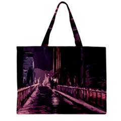 Texture Abstract Background City Zipper Mini Tote Bag