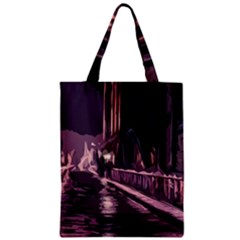 Texture Abstract Background City Zipper Classic Tote Bag