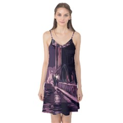 Texture Abstract Background City Camis Nightgown