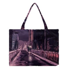 Texture Abstract Background City Medium Tote Bag