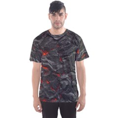 Rock Volcanic Hot Lava Burn Boil Men s Sports Mesh Tee