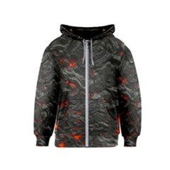 Rock Volcanic Hot Lava Burn Boil Kids  Zipper Hoodie