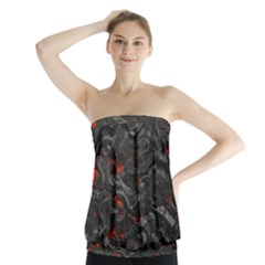 Rock Volcanic Hot Lava Burn Boil Strapless Top