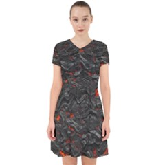 Rock Volcanic Hot Lava Burn Boil Adorable In Chiffon Dress