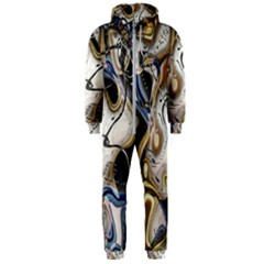 Time Abstract Dali Symbol Warp Hooded Jumpsuit (men)