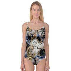 Time Abstract Dali Symbol Warp Camisole Leotard