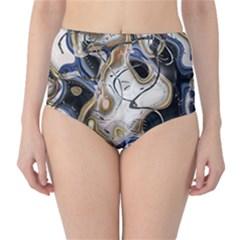 Time Abstract Dali Symbol Warp High Waist Bikini Bottoms