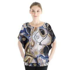 Time Abstract Dali Symbol Warp Blouse