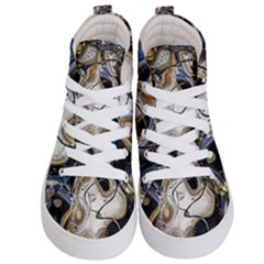 Time Abstract Dali Symbol Warp Kid s Hi Top Skate Sneakers