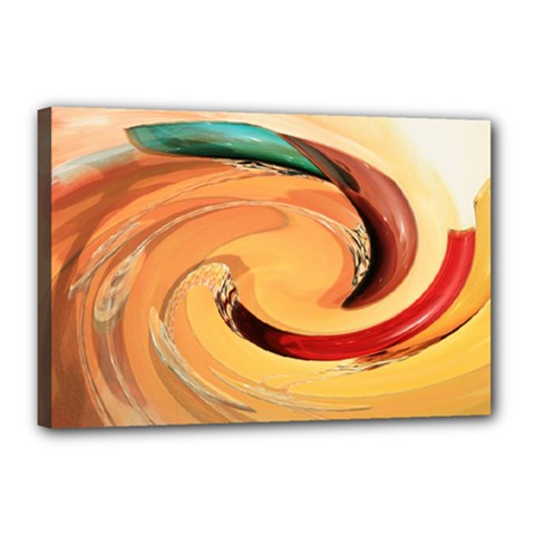Spiral Abstract Colorful Edited Canvas 18  X 12