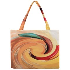 Spiral Abstract Colorful Edited Mini Tote Bag
