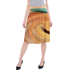 Spiral Abstract Colorful Edited Midi Beach Skirt