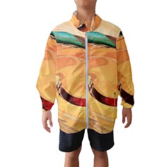 Spiral Abstract Colorful Edited Wind Breaker (kids)