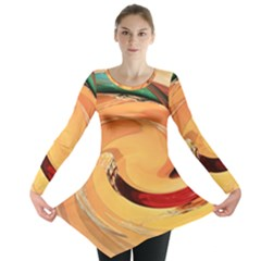 Spiral Abstract Colorful Edited Long Sleeve Tunic