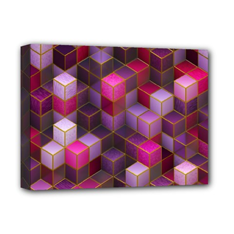 Cube Surface Texture Background Deluxe Canvas 16  X 12