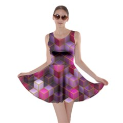 Cube Surface Texture Background Skater Dress