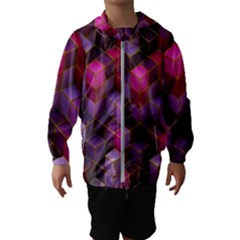 Cube Surface Texture Background Hooded Wind Breaker (kids)