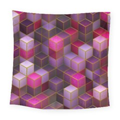 Cube Surface Texture Background Square Tapestry (large)