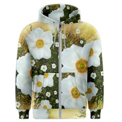 Summer Anemone Sylvestris Men s Zipper Hoodie