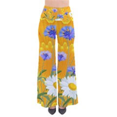 Flowers Daisy Floral Yellow Blue Pants