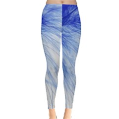 Feather Blue Colored Leggings