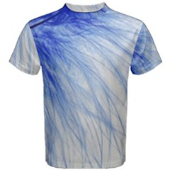 Feather Blue Colored Men s Cotton Tee