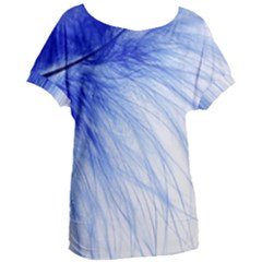 Feather Blue Colored Women s Oversized Tee