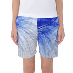 Feather Blue Colored Women s Basketball Shorts