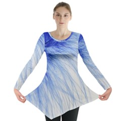 Feather Blue Colored Long Sleeve Tunic