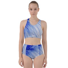 Feather Blue Colored Racer Back Bikini Set