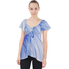 Feather Blue Colored Lace Front Dolly Top