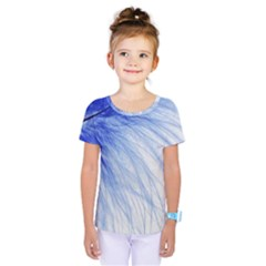 Feather Blue Colored Kids  One Piece Tee