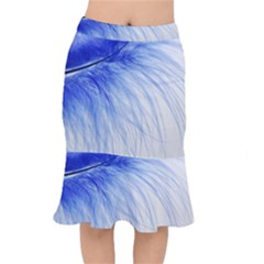 Feather Blue Colored Mermaid Skirt