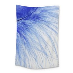 Feather Blue Colored Small Tapestry