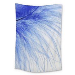 Feather Blue Colored Large Tapestry